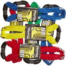 Masterlock  - 4 dígitos combinación restaurable integrado candado, Multicolor (Rojo/Azul/Verde/Amarillo), 8 x 900 mm