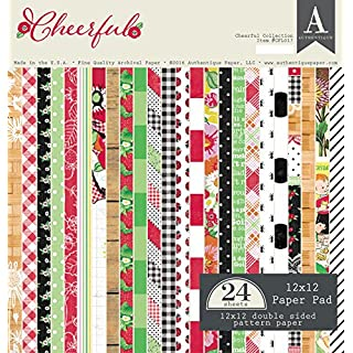 Authentique Paper Cheerful 12x12 Paper Pad