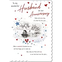 Traditional Annivesary Card Husband - 9 x 6 inches - Piccadilly Greetings