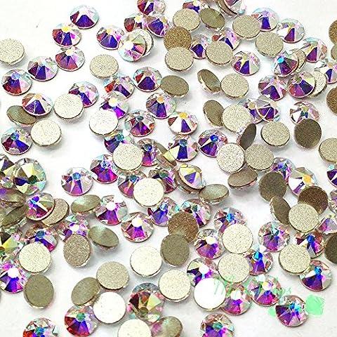 Crystal AB (001 AB 2058 Xilion Swarovski Xirius 20ss-2088-Set per nail art, 5 mm, chiusura laterale con brillantini ss20 **, spedizione gratuita in Mychobos all