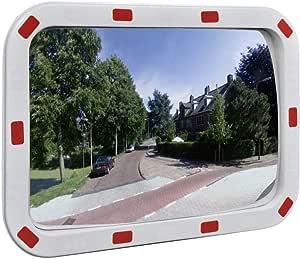 Vidaxl Verkehrsspiegel Überwachungsspiegel Sicherheitsspiegel Panoramaspiegel Konvex Viereckig 40 60 Cm Mit Reflektoren Auto