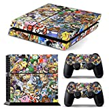 AGSP® MARIO POKEMON STICKERBOMB PS4 Console and DualShock 4 Controller Skin Set - PlayStation 4 Vinyl