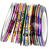 Cosanter 30er Pack Zierstreifen Striping Tape Streifen Nail Art Stripes Stripe Sticker