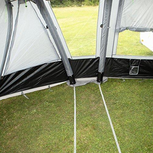 Reisevorzelt Garda-L Deluxe grau ohne Gestänge aufblasbar Berger Wohnwagen Camping Urlaub - 3