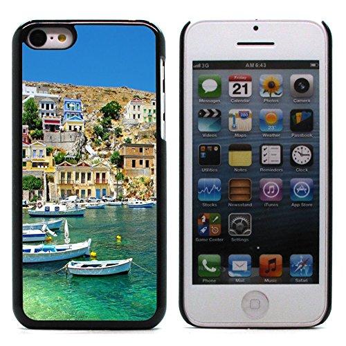 Graphic4You White Houses Greece Postkarte Ansichtskarte Design Harte Hülle Case Tasche Schutzhülle für Apple iPhone 5C Design #1