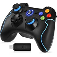 EasySMX Wireless Game Controller, 2.4G Wireless Game Joystick Gamepad, Dual Shock, TURBO for Android Phone or Tablet…
