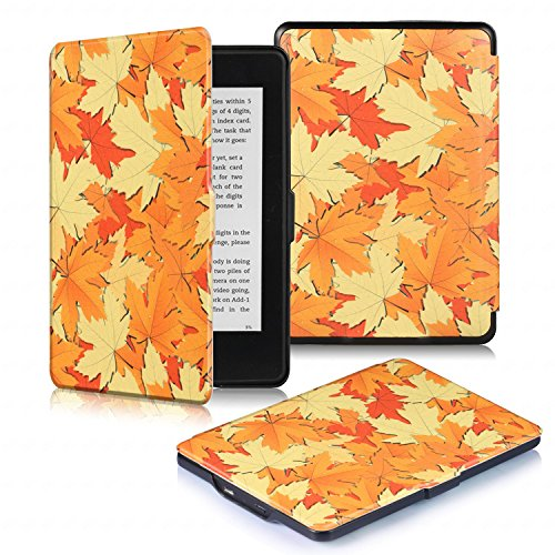 DHZ Kindle Paperwhite Custodia - Case Cover Custodia Amazon Nuovo Kindle Paperwhite 1/2/3 Adatto Tutte (Foglia Telefono)