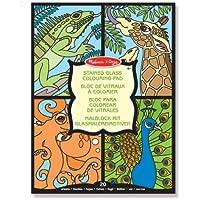 Melissa & Doug - Blocco di decorazioni per vetrate, motivo: animali