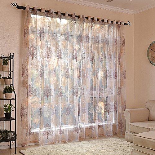 Yunt 2pcs gasa condecoraciones de ventana de 100x 250cm cortina Im
