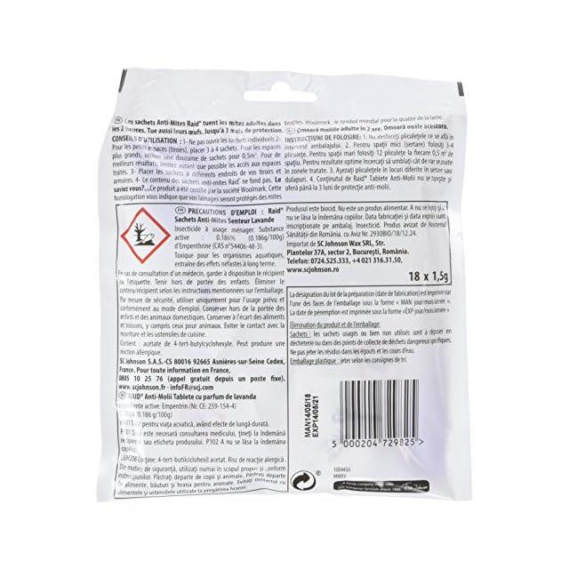 Mites Fumigènes 4 Des Fumer P 3 Bombes Anti De 5g Formule Vêtements qUMLpGSzjV