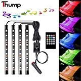 #8: Thump Premium Quality 4 In 1 Multi-Color Music 36 LED Car Interior Underdashboard Lighting Kit With Car Charger and Sound Activated IR Wireless Remote Control Atmosphere Lamp (6W, Set of 4)