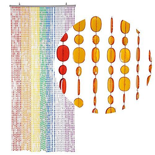 HAB & GUT (DV0222) Türvorhang Form: OVAL, Farbe: MEHRFARBIG, Material: Kunststoff, Größe: 90 x 200 cm