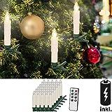 30 LED Weihnachtsbaumkerzen ✔mit Fernbedienung Warmweiß ✔ Dimmfunktion ✔ inkl.