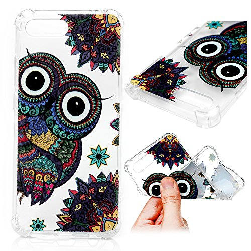 Huawei Honor 10 Coque LANVY Housse tui TPU Silicone Souple Coque Conception Exquise Cover Gel Doux Case Anti-drapante Coque Bumper Cover pour Huawei Honor 10 - Hibou
