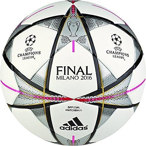 adidas Final Milano Omb - Balón para hombre, color blanco / negro, talla 5