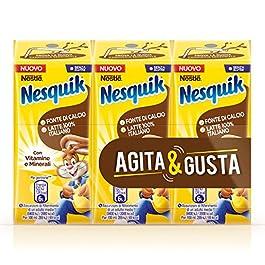Nesquik Pronto da Bere Bevanda a Base di Latte e Cacao Solubile, 8 Confezioni