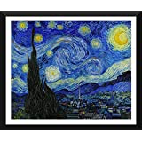 """Starry Night By Van Gogh - """"Top 10 Vincent Van Gogh Poster"""" Collection - Post Impressionist Painter - Premium Quality Framed Poster (12 X 17 Inches) For Home And Office Décor By Tallenge"""
