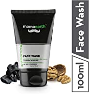 Mamaearth Refresh Oil Control Facewash for Men with Charcoal and Walnut, SLS & Paraben Free, 100 ml