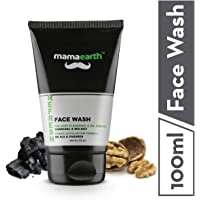 Mamaearth Refresh Oil Control Facewash for Men with Charcoal and Walnut, SLS & Paraben Free