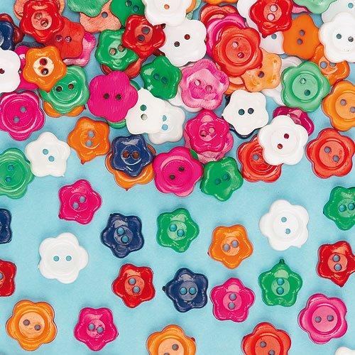 Bottoni a forma di Fiore (confezione da 200)