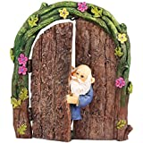 [Sponsored]Wonderland Miniature Fairy Garden Gnome In The Door For Planter Decoration, Bonsai, Terrarium, Garden Decor, Mini, Miniatures, Tray Garden, Doll House, Kids Room Decor, Gift, Home Decoration Item