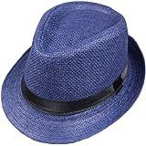Aeromdale Panamá Sombreros para Hombres Jazz Hat Sun Hat Sombrero de verano al aire libre Plegable Beach Hat 1PC - # A