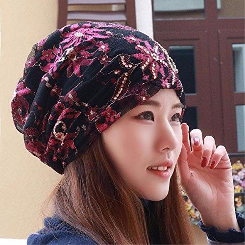 XINQING-MZ Hat das Mädchen schal Cap spitze Mütze Glatze storehouse Kappe, Kappe Baotou hat schwangere Frauen neue Frühjahr und Sommer, Rosa