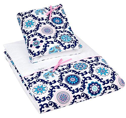 Muster Flanell-pyjama (Baby Mädchen und Jungen 2 teiliges Bettwäsche-Set, 100% Baumwollsatin Größen Farben (Indisches Muster, 100x135 cm))