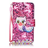 BoxTii iPod Touch 5th / 6th Generation Case + Free Tempered Glass Screen Protector, Elegant Leather Wallet Case, Flip Wallet with Wrist Strap for Apple iPod Touch 5th / 6th (#1 Pink)