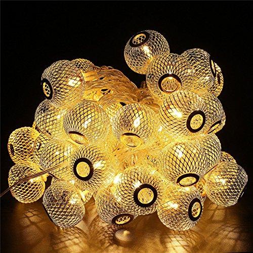 Ascension 16 Leds 3 Meter Metal Ball Design Shape Led String Lightsm,(Warm White) (Set Of 1)