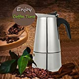 Calli 6 taza de acero inoxidable de 300 ml moka express Latte pote principal fabricante de café estufa percolador