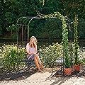 Gartenlaube Romantik, inkl. Sitzbänken von Gärtner Pötschke - Gartenmöbel von Du und Dein Garten