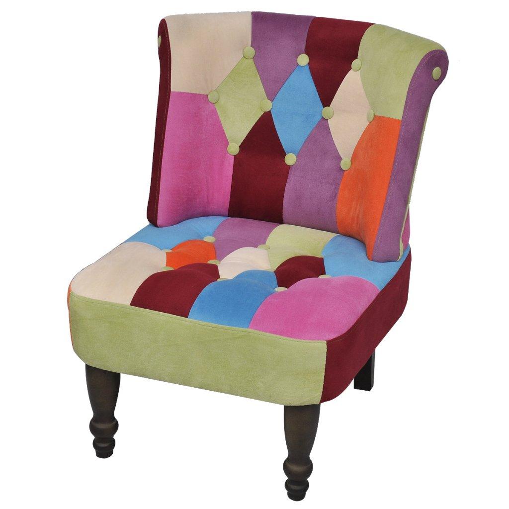 Anself Patchwork Sessel Clubsessel Design Patchwork Stuhl Loungesessel Mehrfarbig 1