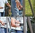 9x Zaun Befestigung Maschendraht Zaunpfosten schwarz 34mm-Pfosten Fix-Clip-Pro von GAH bei Du und dein Garten