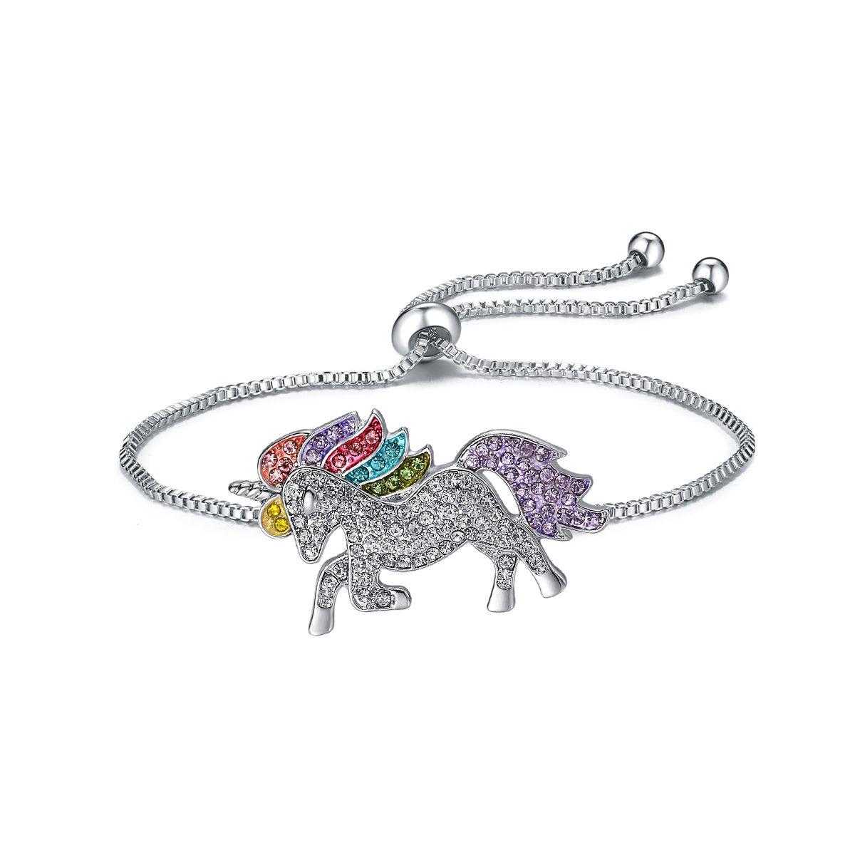 YIYIPRINCESS Unicorn Necklace Magical Unicorn Jewelry Rainbow Unicorn Pendant Necklace for Girls