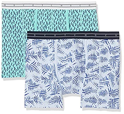 Scotch & Soda Men's Classic Boxer with Colourful All-Over Printed Pattern Shorts