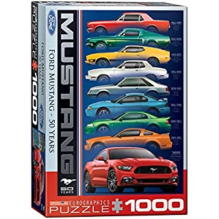 Eurographics Ford-Mustang-Puzzle zum 50th Jahrestag (9 Autos), 1000 Teile