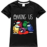 MINIDORA Among Us Camiseta Estampada T-Shirt para niños Manga Corta de Juego Casual tee