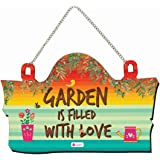 Indigifts Design Wooden Door Wall Hanging Family Funny Quirky Quote (Garden Hanging)