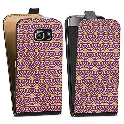 Samsung Galaxy S6 Tasche Hülle Flip Case Blumen Illusion Muster