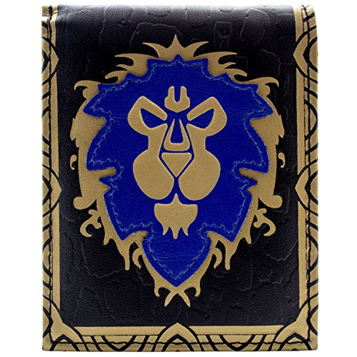 World of Warcraft Alliance Faction Logo Blau Portemonnaie Geldbörse