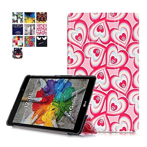 DETUOSI LG GPad 3 8.0 Tablet Funda Carcasa,PU Cuero Piel Smart Case Flip Cover Carcasa para LG G Pad 3 8.0 V525/LG G Pad X 8.0 V521WG Tablet Funda de Cuero con Soporte funtion