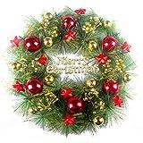 Nicololfle Weihnachtskranz, Weihnachtskränze Haustür, Outdoor Hanger dekorative Girlande (Style A)