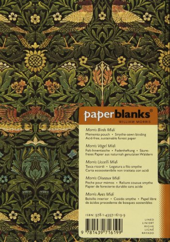 Deals For Paperblanks William Morris Birds Midi Notebook with Lined Pages Online