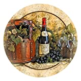 Thirstystone Stoneware Coaster Set, Wine Picnic