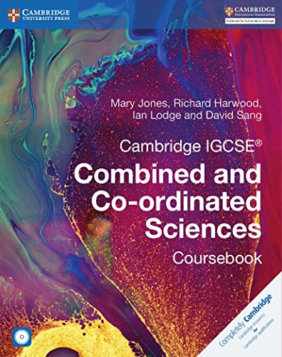 Cambridge IGCSE Combined and Co-ordinated Sciences. Coursebook. Con CD-ROM (Cambridge International IGCSE) por Mary Jones