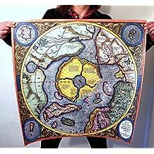 Flat Earth - Mercator 'Septentrionalium Terrarum Descriptio' 1613 - Arctic North Pole Map
