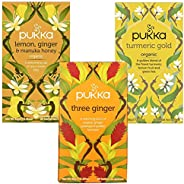 Pukka Immune Support Tea Variety Pack of 3 x 20 Teabags