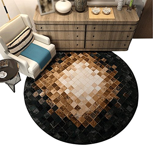 Lixin Round Floor Teppich Einfachen Haus Wohnzimmer Couchtisch Schlafzimmer Nachttisch Hängen Korb Computer Stuhl Kissen,100Cm