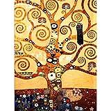 34x 44cm Full Diamond Stickerei Baum des Lebens Mosaik Bilder Diamant Kreuzstich Klimt Gemälde Naht Artistic Dekoration